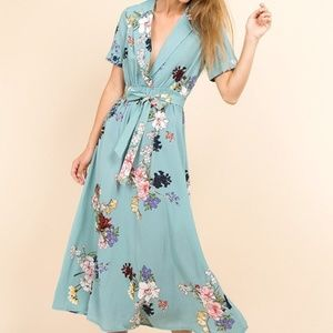 Mint Floral Maxi Dress
